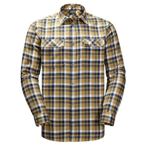 Jack wolfskin Koszula bow valley shirt - golden amber checks