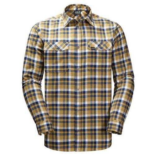 Koszula bow valley shirt - golden amber checks, Jack wolfskin