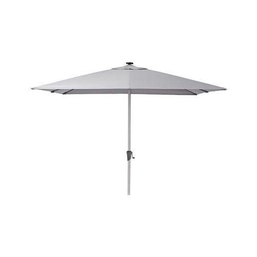 Parasol ogrodowy 285 x 285 cm SONORA z oświetleniem LED szary kwadratowy NATERIAL (3276000690443)