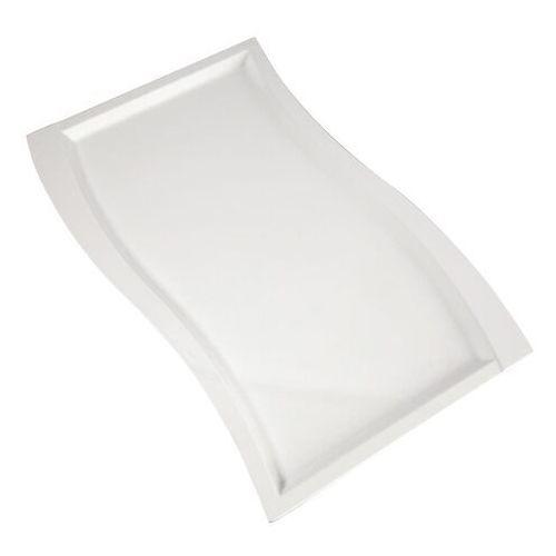 Biały półmisek z melaminy o falistym kształcie wave gn 1/1 marki Aps