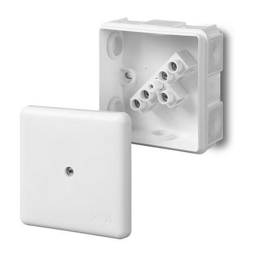 Puszka odgałężna Elektro-plast z wkładem 5-torowa dla Cu do 2.5mm2/6-wylotowy IP55 biała 87x87x39 0226-01, 0226-01