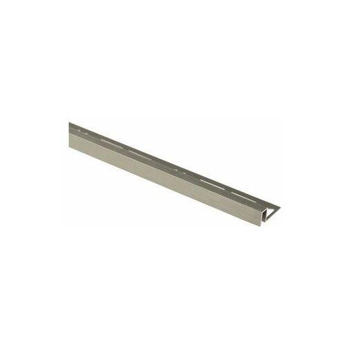 Profil wykończeniowy Aluminium kwadrat 11 X 8 mm / 2.5 m Lux tytan szczotkowany Cezar (5904584807046)