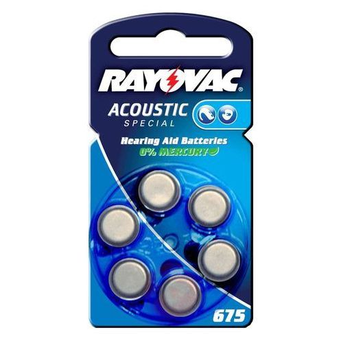 Mała bateria Rayovac 675 Acoustic 1,4V, 640m Ah