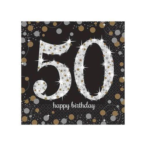 Serwetki na pięćdziesiąte urodziny - 33cm - 16 szt. marki Amscan