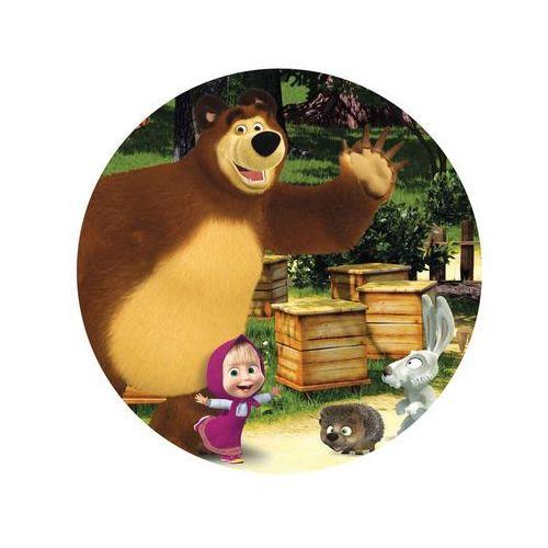 Smakop Dekoracyjny opłatek tortowy masza i niedźwiedź - 20 cm