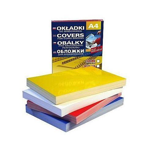 Okładki do bindowania karton błyszczący chromolux niebieski a4 , 100szt. marki Datura