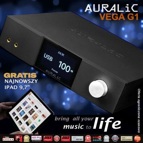 "Auralic Vega G1 Streaming DAC + Apple IPad 9,7"" gratis (4251190800239)"