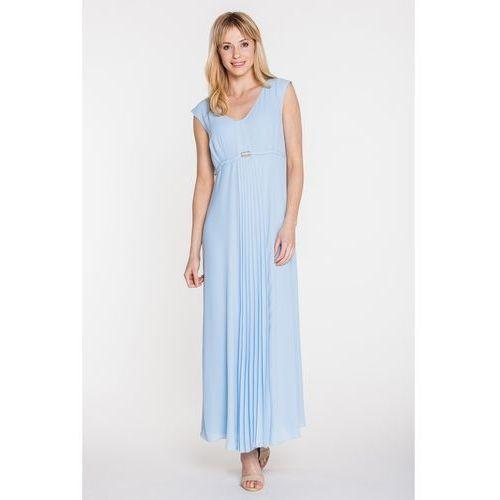 Błękitna sukienka wieczorowa - Vito Vergelis, kolor niebieski