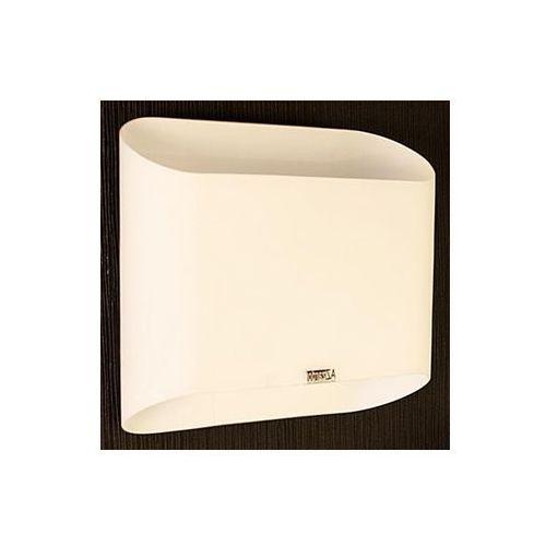 Kinkiet lampa ścienna pancake mb329-2wh szklana oprawa biała marki Azzardo