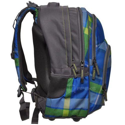 Plecak szkolny BLABY kolor: woody blue, kolor wielokolorowy