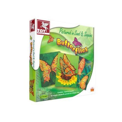 Toy kraft Motyle zdobione piaskiem i cekinami