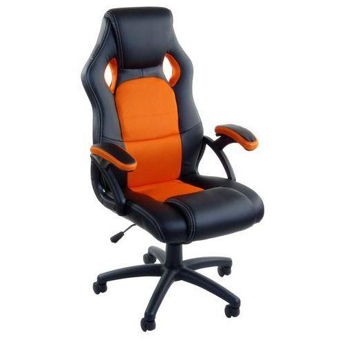 Giosedio Fotel biurowy czarno-pomarańczowy,model rca009