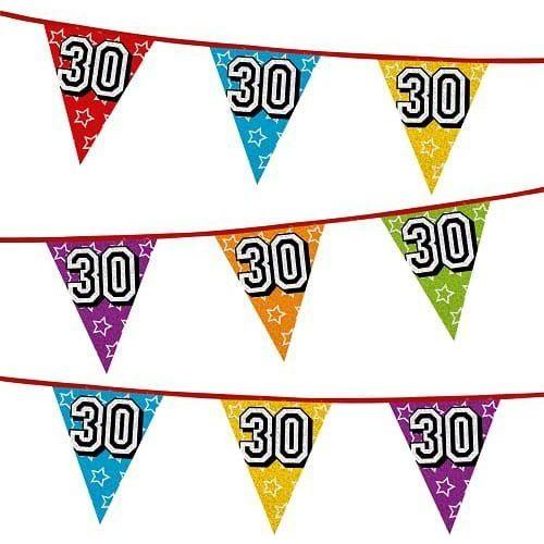 Godan Girlanda z flag na 30 urodziny, kolorowe flagi holograficzne