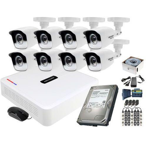 Monitoring po skrętce 8x kamera rejestrator zestaw hd marki Hikvision hiwatch