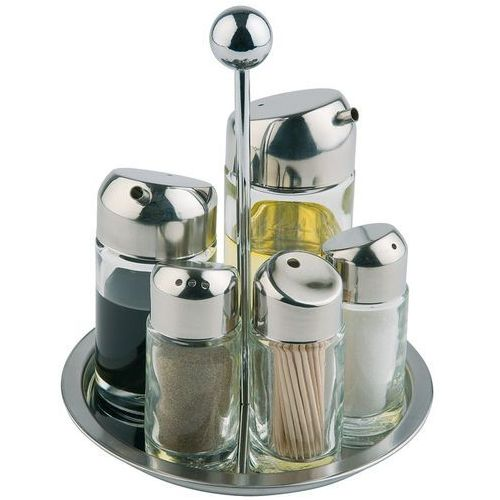 Zestaw do przypraw pięcioelementowy o średnicy 160 mm | APS, 40485