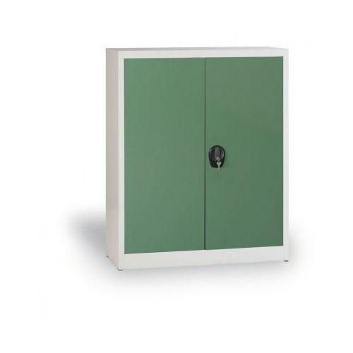 Szafa metalowa, 1150x1200x400 mm, 2 półki, szary/zielony marki Alfa 3
