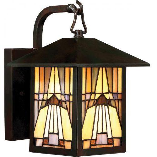 Zewnętrzna lampa sufitowa inglenook qz/inglenook/f elstead witrażowa oprawa kwadratowy plafon ip44 multikolor marki Quoizel