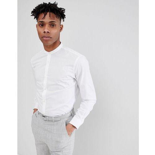 French Connection Plain Poplin Grandad Slim fit Shirt - White