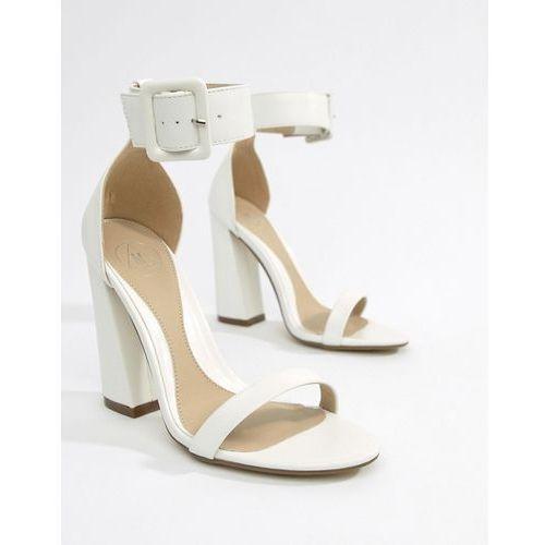 b15176fa5587 buckle detail heeled sandal - white marki Missguided