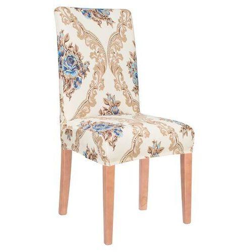 Pokrowiec na krzesło uniwersalny kremowy glamour marki Springos