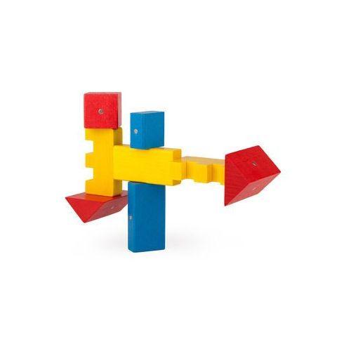 Kooglo Drewniane klocki magnetyczne  mini color 30 el.