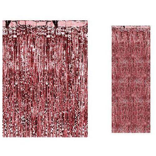 Kurtyna - zasłona na drzwi metaliczna czerwona - 2,4 m x 91 cm (5901157453310)