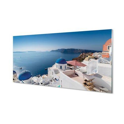 Tulup.pl Obrazy akrylowe grecja morze budynki panorama