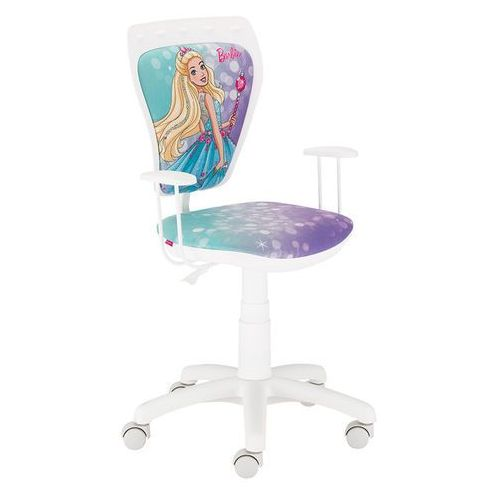 Krzesło obrotowe z dziewczęcymi motywami ministyle barbie marki Nowy styl