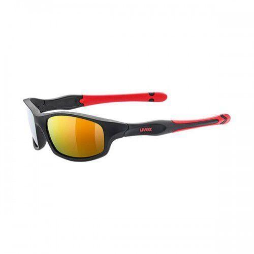Uvex okulary dziecięce sportstyle 507 (s3) black mat red z szybą mirror red