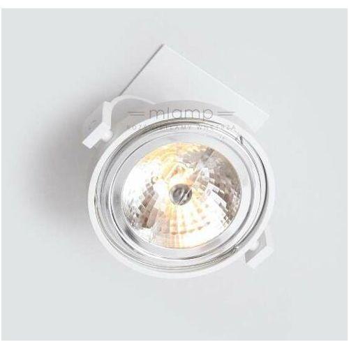 Podtynkowa LAMPA sufitowa SAKURA 7251 Shilo metalowa OPRAWA reflektorowa WPUST biały (1000000247114)