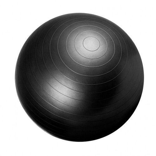 55cm Piłka Fitness gimnastyczna rehabilitacyjna Gorilla Sports czarna, 100490-00019-0059