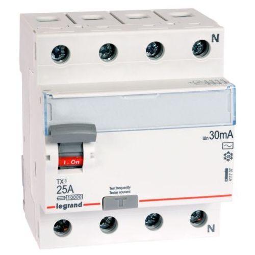 Wyłącznik różnicowoprądowy P304 TX3 25A 30mA AC 4P Legrand, LE-411707