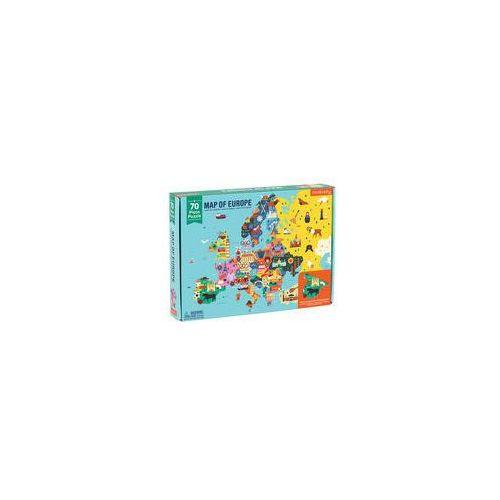 Puzzle mapa europy z elementami w kszta�cie pa�stw marki Mudpuppy