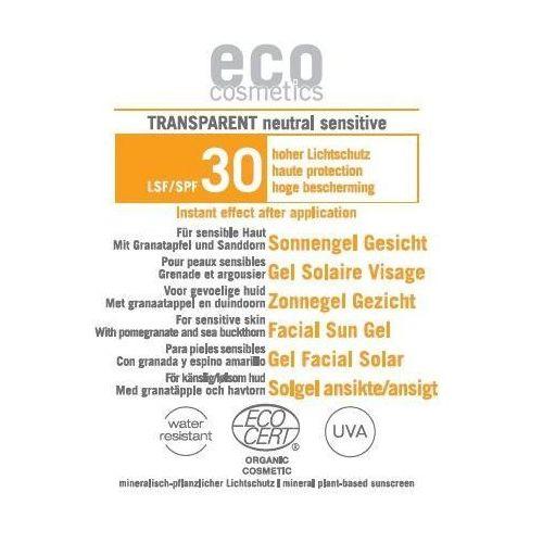 Transparentny żel na słońce lsf/spf 30 do twarzy 1 ml marki Eco cosmetics