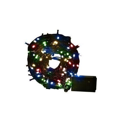 Lampki choinkowe z gniazdem i programatorem 200 LED multikolor 11.45 m migające (5907520022138)