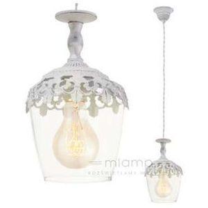 Lampa wisząca sudbury 49221 metalowa oprawa zwis biała marki Eglo