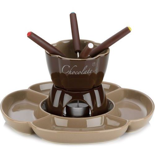 Ceramiczny zestaw do fondue czekoladowego Fiore Kela 0,25 Litra (KE-12423), KE-12423 (10958036)