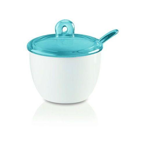Guzzini - gocce - cukiernica z łyżeczką, niebieski - niebieski (8008392267065)
