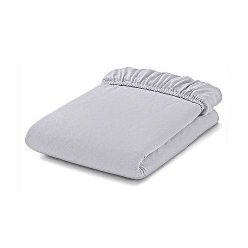 MAMO-TATO Prześcieradło bawełniane z gumką do łóżeczka 70x140 Szary
