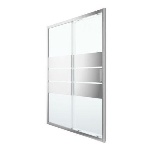 Drzwi prysznicowe przesuwne GoodHome Beloya 140 cm chrom/szkło lustrzane, K597CM