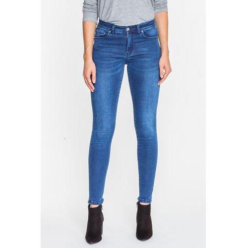 Granatowe spodnie jeansowe pamela - , Rj rocks jeans