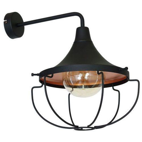 Kinkiet LAMPA ścienna ADX 902C1 metalowa OPRAWA industrialna drut loft czarny, ADX 902C1