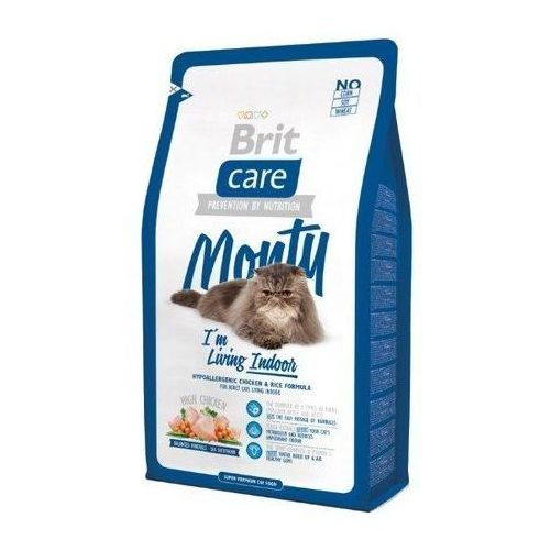 care cat new monty i'm living indoor chicken & rice 2kg marki Brit