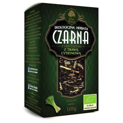 Dary natury - test Herbata czarna z trawą cytrynową bio 100 g - dary natury