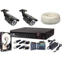 Zestaw monitoringu 2x kamera 720p, rejestrator, hdd 1tb z960 marki Easycam