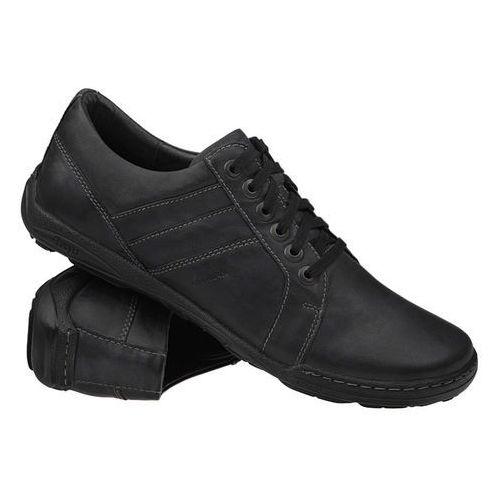 Półbuty buty 1-4237-499 grafitowe - czarny ||grafitowy, Kacper
