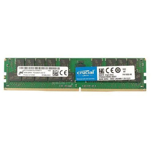 Pamięć RAM 1x 64GB Crucial ECC LOAD REDUCED DDR4 4Rx4 2933MHz PC4-23400 LRDIMM | CT64G4LFQ4293 (0649528788337)