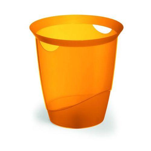 Kosz na śmieci trend pomarańczowy przezroczysty (16 l.) marki Durable