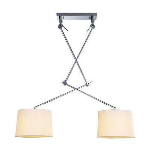 Azzardo Lampa wisząca adam 2s md2299-2s wh regulowana oprawa zwis na wysięgniku biały