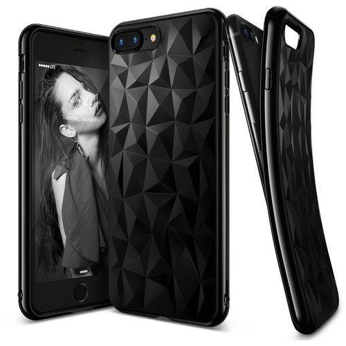 Rearth Etui ringke air prism apple iphone 7 plus, ink black (czarny atrament) + folia (8809525011704)